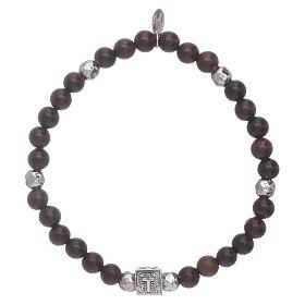 Bracelet AMEN argent 925 et ébène Foi, Espoir et Charité s1