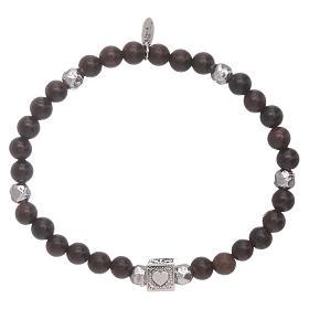 Bracelet AMEN argent 925 et ébène Foi, Espoir et Charité s4