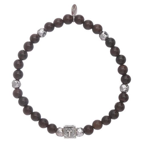 Bracelet AMEN argent 925 et ébène Foi, Espoir et Charité 1