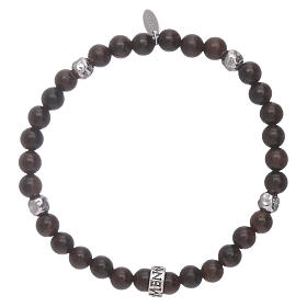 AMEN 925 sterling silver ebony bracelet with insert s2