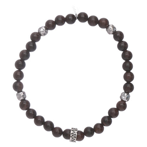 AMEN 925 sterling silver ebony bracelet with insert 1