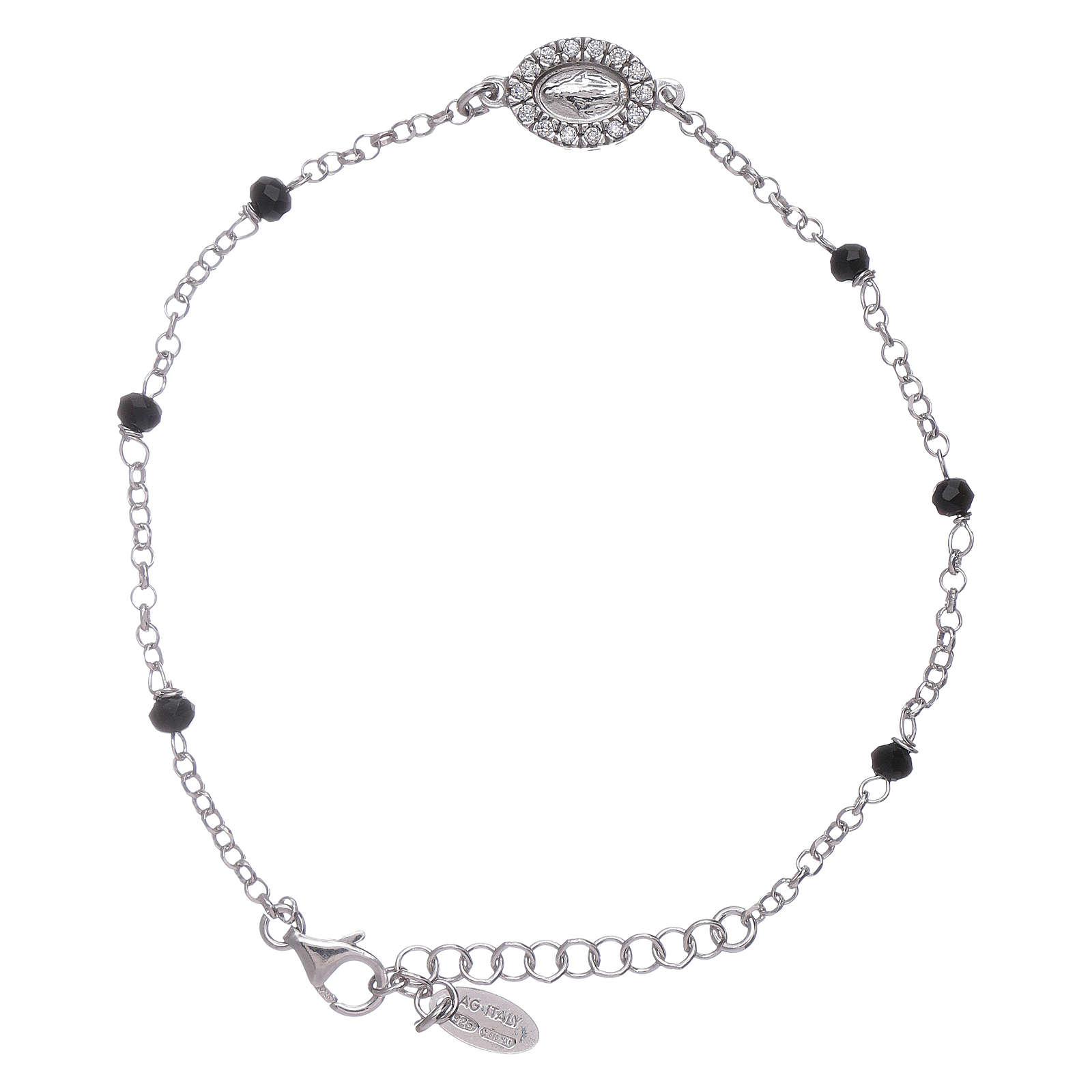 Bracciale cristalli neri AMEN arg 925 Miracolosa zirconata 4