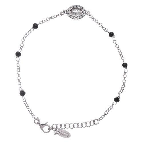 Bracciale cristalli neri AMEN arg 925 Miracolosa zirconata 1