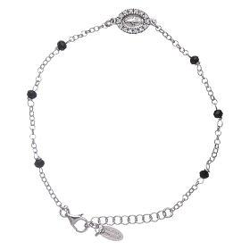 Branzolety AMEN: Branosletka kryształy czarne AMEN srebro 925 Cudowna cyrkonie