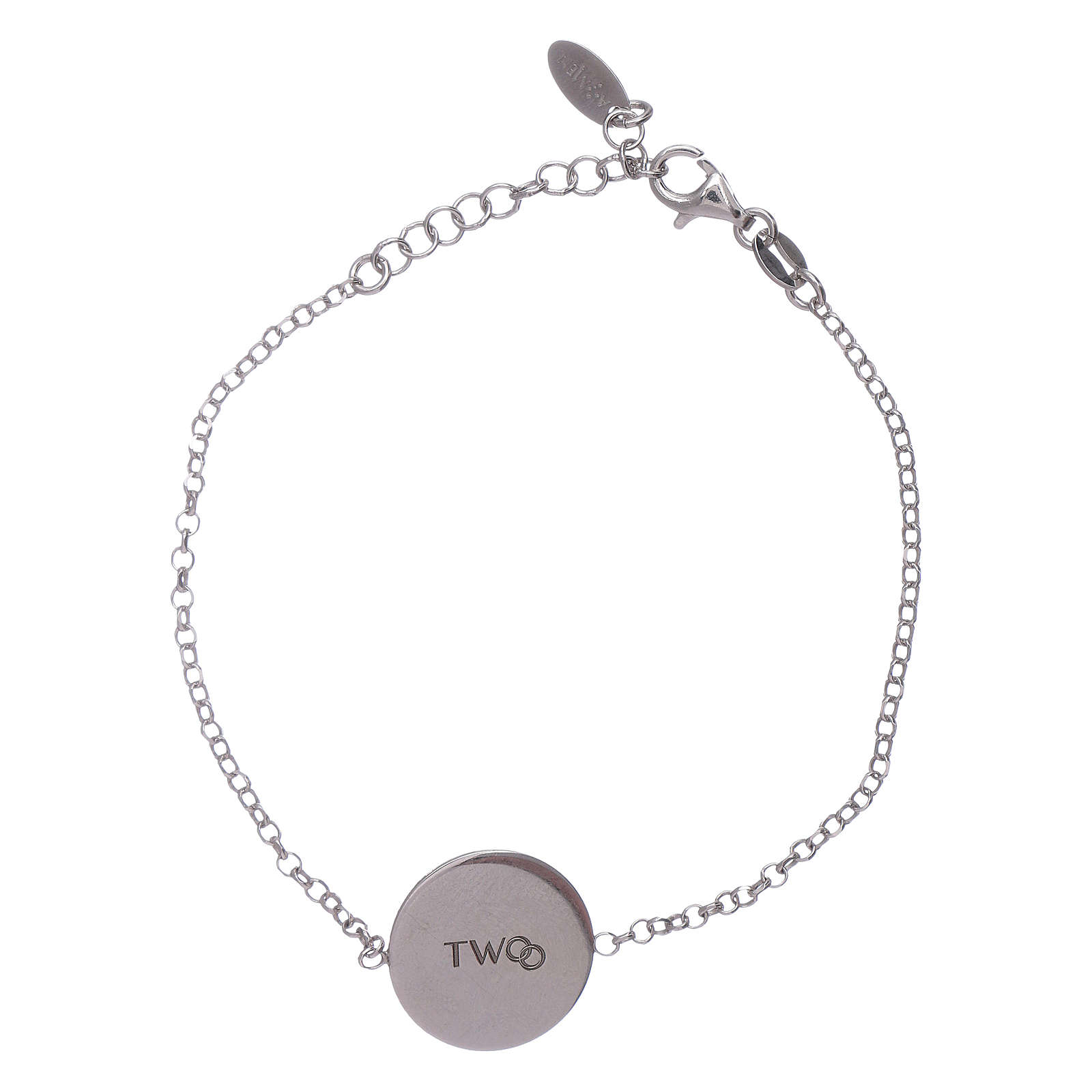 Bracciale donna AMEN arg 925 con messaggino romantico 4