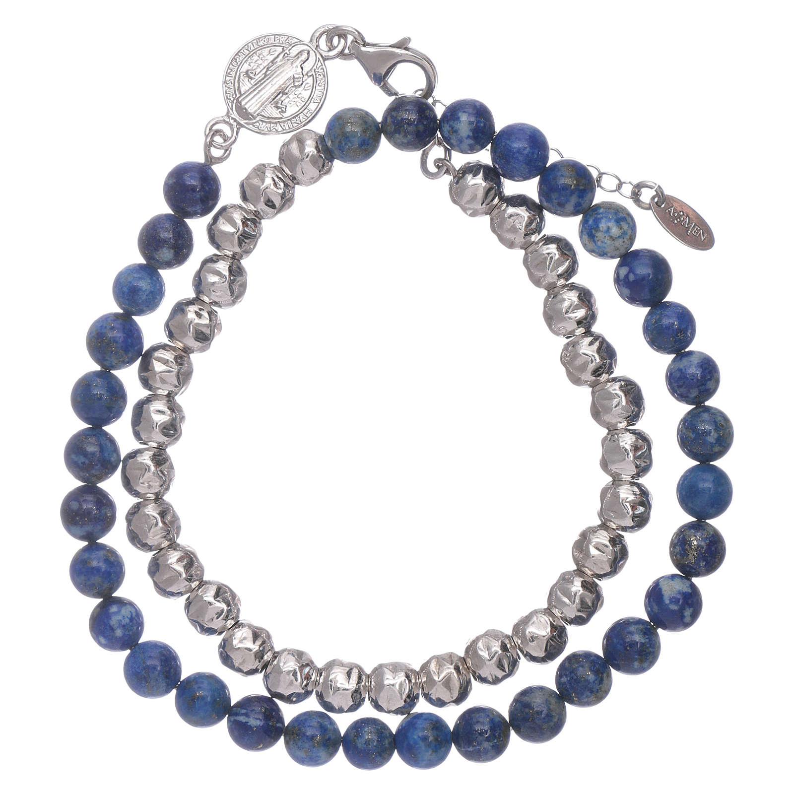 Bracelet unisex AMEN lapis-lazuli Saint Benoît 4