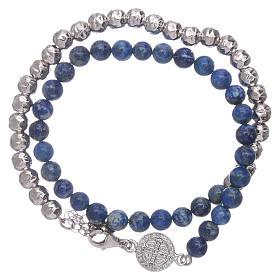 Bracelet unisex AMEN lapis-lazuli Saint Benoît s1