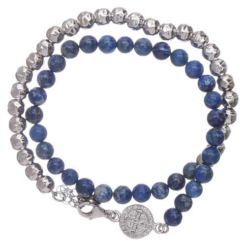 Bracelet unisex AMEN lapis-lazuli Saint Benoît 1