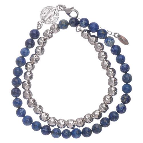 Bracelet unisex AMEN lapis-lazuli Saint Benoît 2