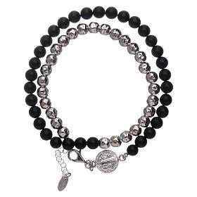 AMEN bracelets: AMEN onyx Saint Benedict bracelet unisex