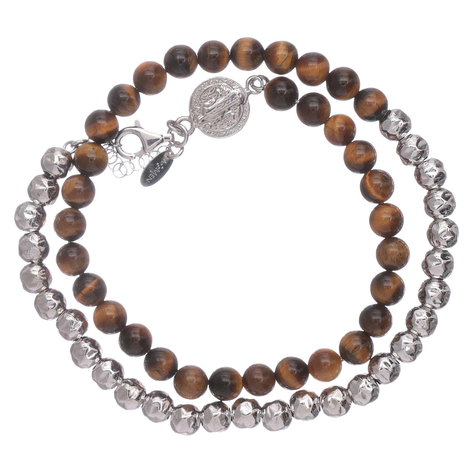 Bracelet unisex Saint Benoît AMEN oeil de tigre 4