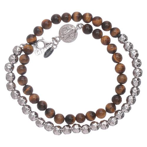 Bracelet unisex Saint Benoît AMEN oeil de tigre 2