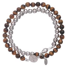 AMEN bracelets: AMEN tiger's eye Saint Benedict bracelet unisex