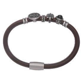 AMEN bracelets: AMEN 925 sterling silver bracelet with a zirconate heart and crosses
