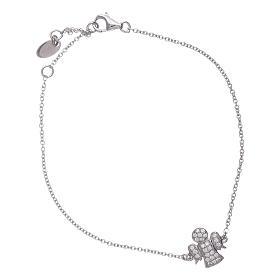 AMEN bracelets: AMEN 925 sterling silver bracelet with a zirconate angel