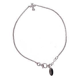 Bracciale argento 925 AMEN croce zirconata s1