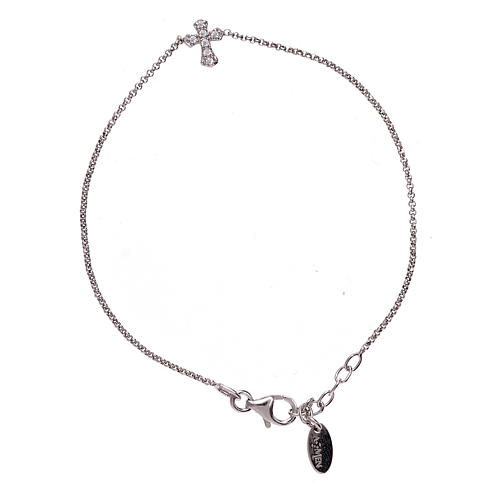 Bracciale argento 925 AMEN croce zirconata 1