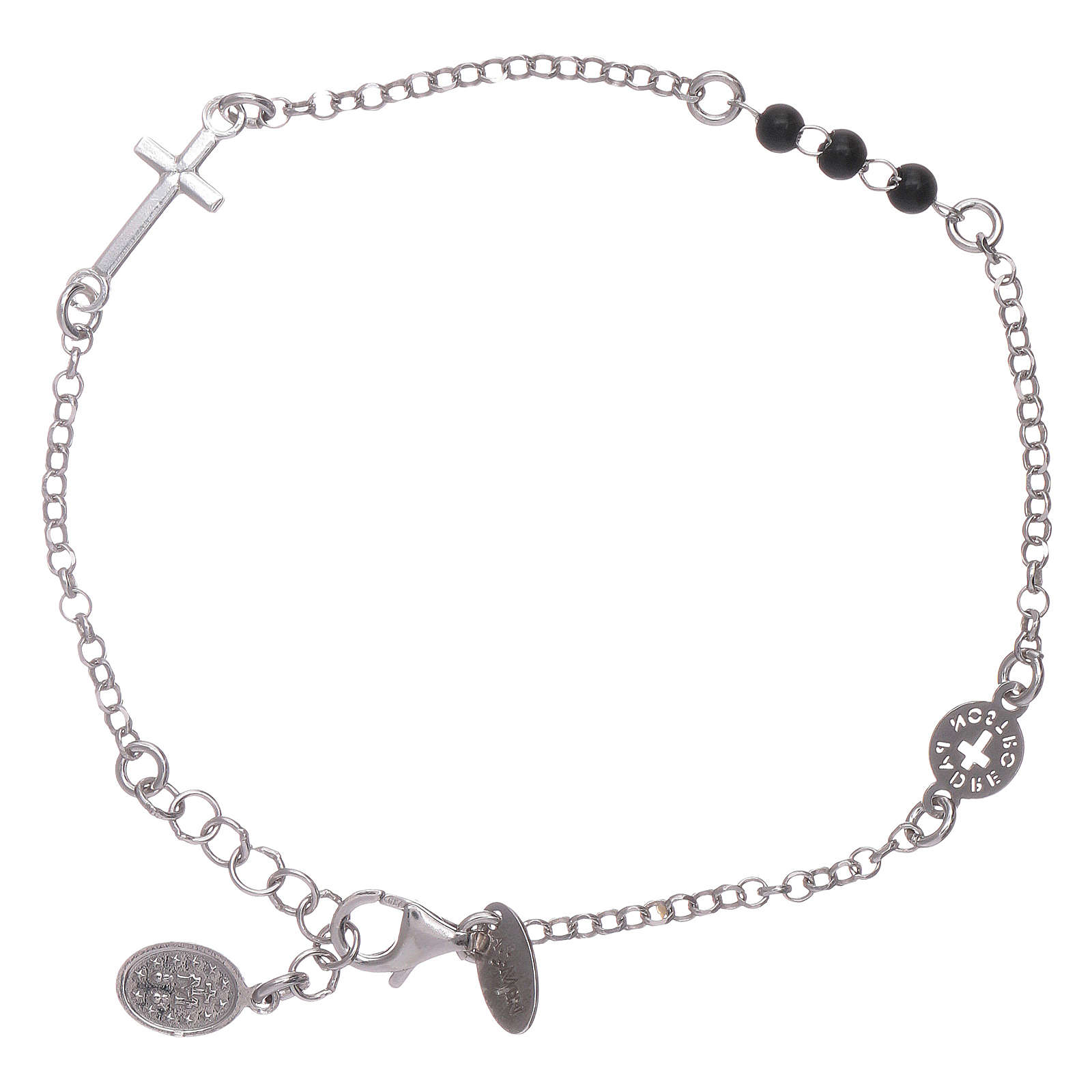 AMEN 925 sterling silver bracelet Our Father with cross 4