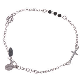 AMEN 925 sterling silver bracelet Our Father with cross s1