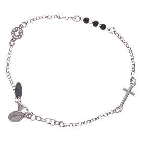 Bracelet AMEN argent 925 Notre Père et croix s1