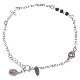 Bracelet AMEN argent 925 Notre Père et croix s2