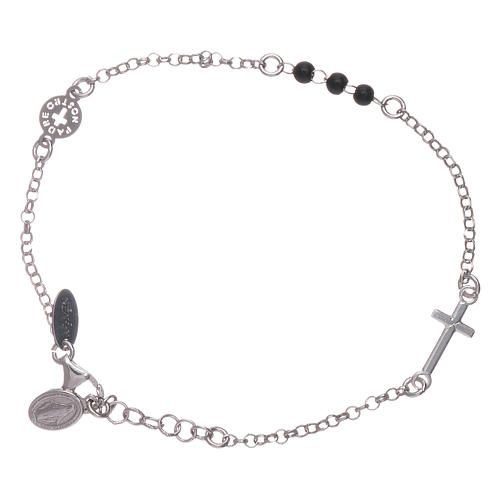 Bracelet AMEN argent 925 Notre Père et croix 1
