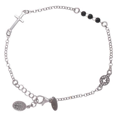 Bracelet AMEN argent 925 Notre Père et croix 2