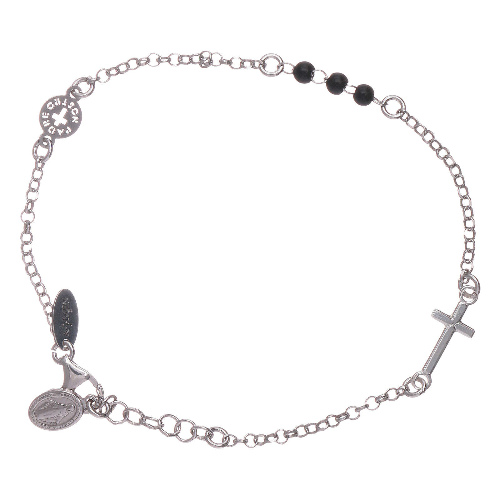 Bracciale AMEN argento 925 Padre Nostro e croce 4