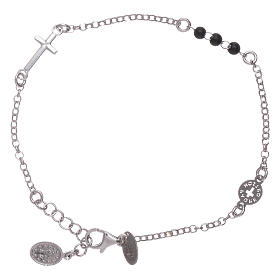 AMEN 925 sterling silver bracelet Our Father with cross s2
