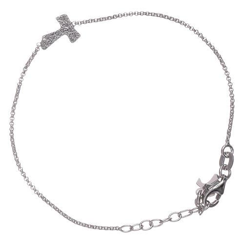 Bracciale AMEN croce zirconata Tau arg 925 2