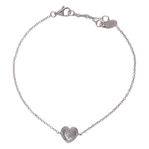 AMEN  925 sterling silver bracelet with a rhodium heart and zircons 2