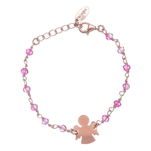 Bracciale AMEN  junior Swarovski e angelo arg 925 1