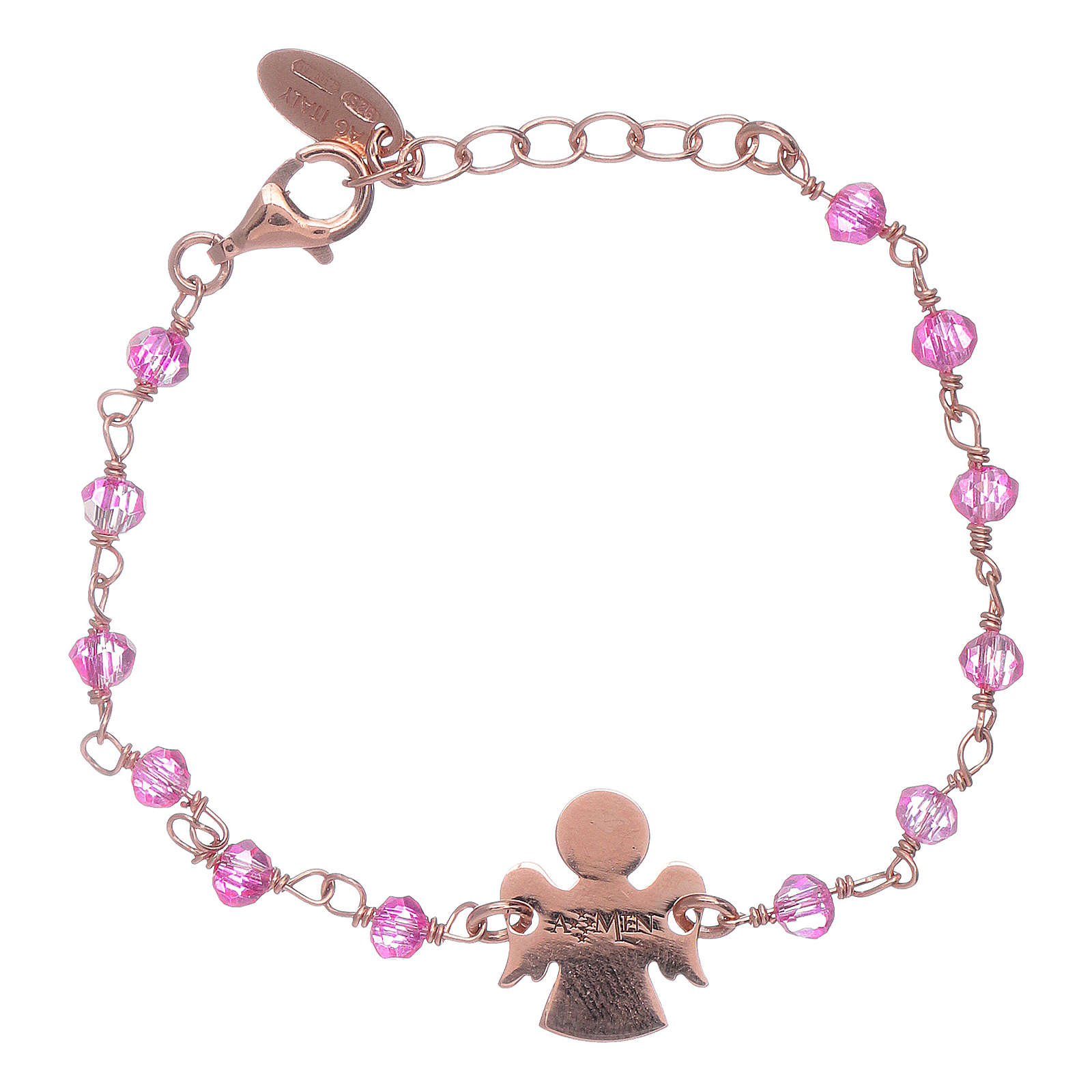 AMEN 925 sterling silver bracelet with Swarovski pearls and angel insert 4