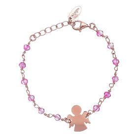 AMEN bracelets: AMEN 925 sterling silver bracelet with Swarovski pearls and angel insert