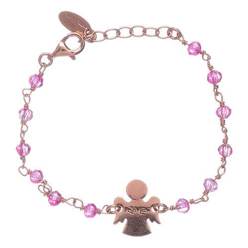 AMEN 925 sterling silver bracelet with Swarovski pearls and angel insert 2