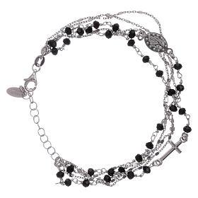 Bracelet argent 925 cristaux noirs AMEN s2
