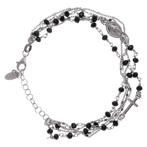 Bracelet argent 925 cristaux noirs AMEN 1
