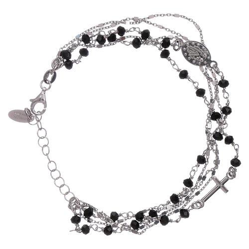 Bracelet argent 925 cristaux noirs AMEN 2