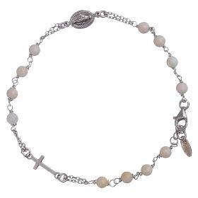 Pulseira terço madrepérola AMEN prata 925 s1