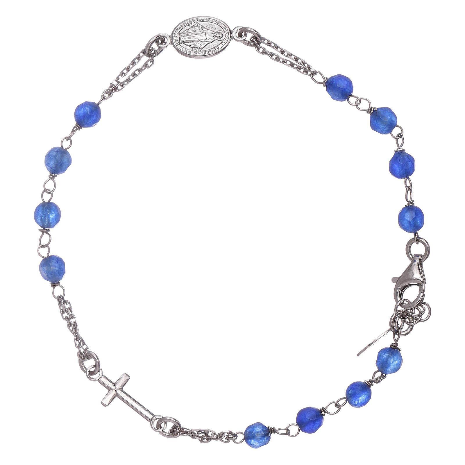Bracciale rosario Amen arg 925 giada blu 4