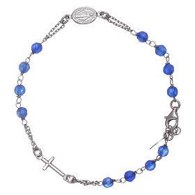 Bracciale rosario Amen arg 925 giada blu s1