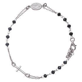 Pulsera rosario cristales grises Amen plata 925 s2