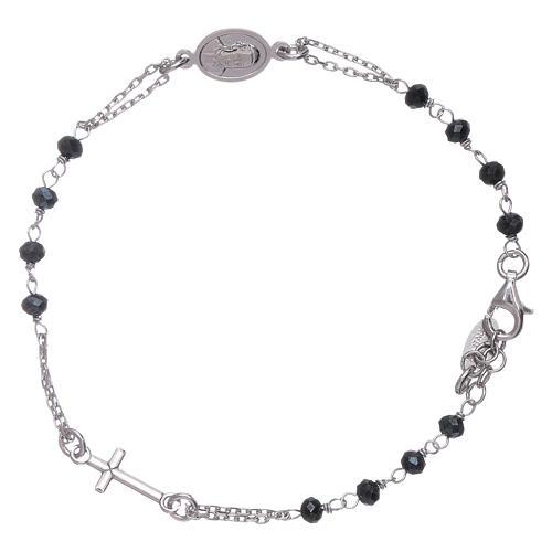 Bracciale rosario cristalli grigi Amen arg 925 1