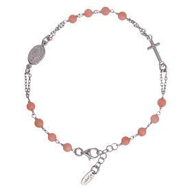 Bracciale rosario Amen arg 925 pietre corallo bambù s1