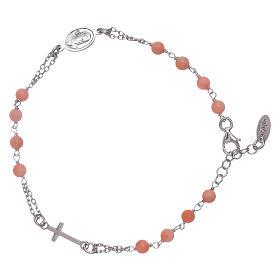 Bracciale rosario Amen arg 925 pietre corallo bambù s2