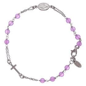 Bracciale rosario in giada lilla Amen arg 925 s1