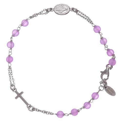 Bracciale rosario in giada lilla Amen arg 925 1