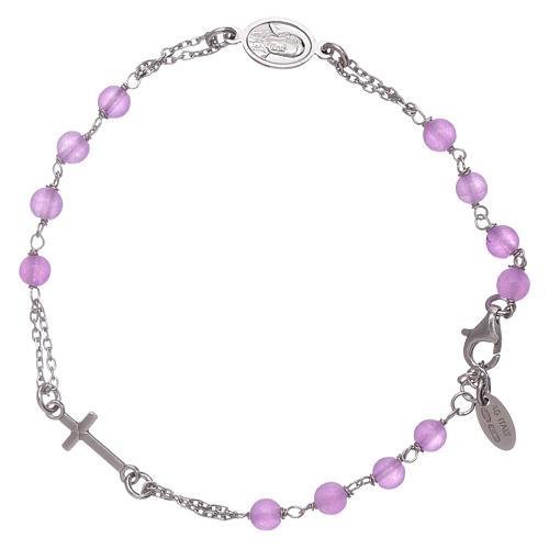 Bracciale rosario in giada lilla Amen arg 925 2