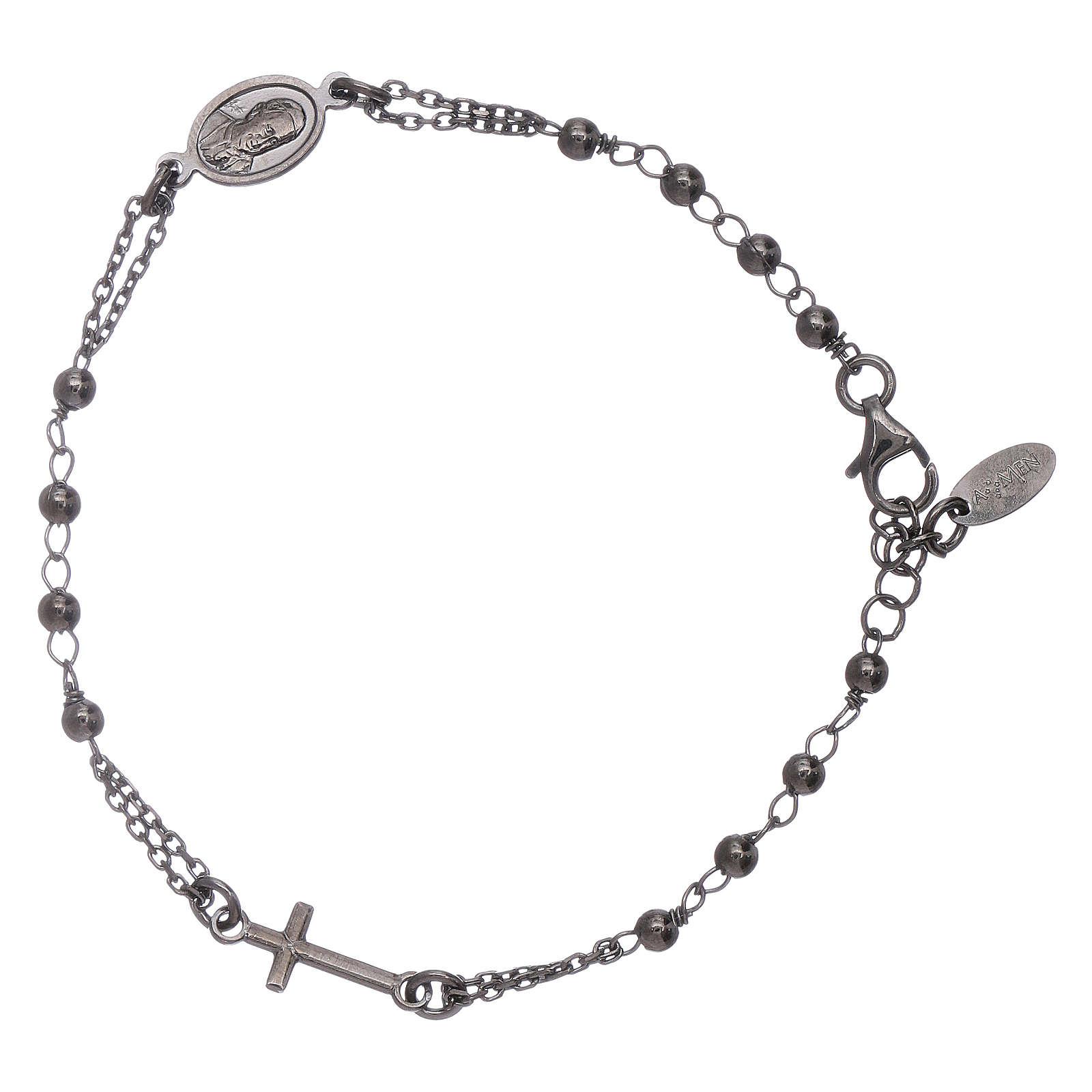 Bracciale rosario arg 925 brunito 4