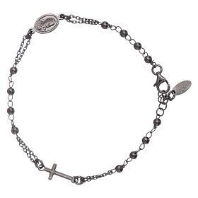 Bracciale rosario arg 925 brunito s2